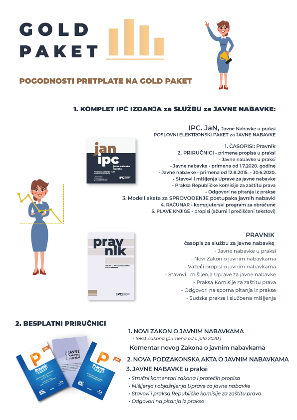 Pogodnosti pretplate na Gold paket